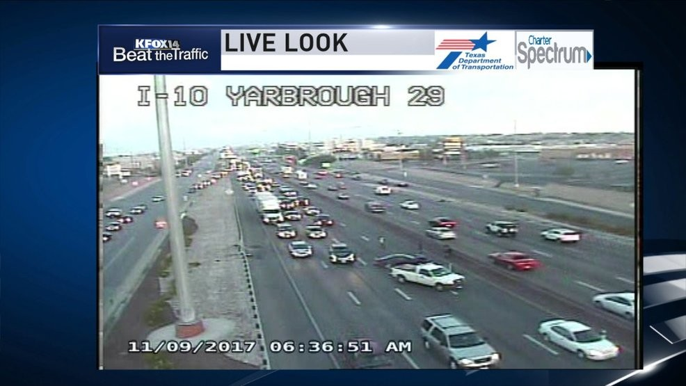 Crash on I-10 east at Yarbrough causing delays | KFOX