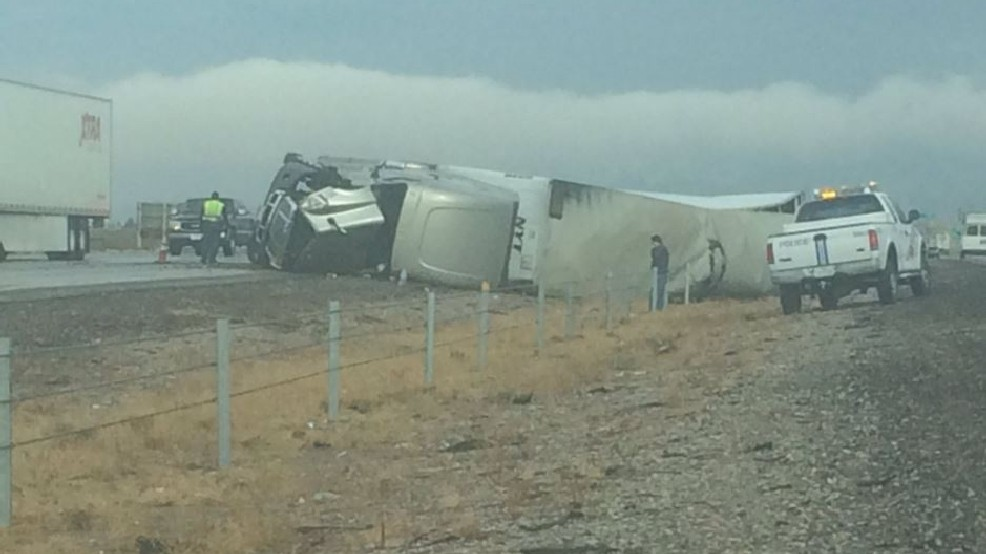 Traffic Alert: Semi-truck rollover on I-10 | KFOX