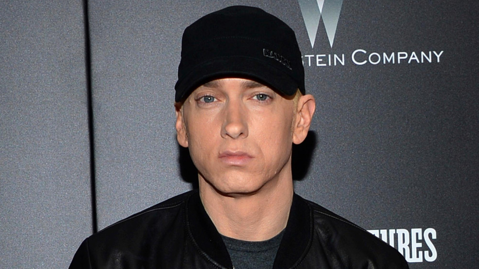"FILE - In this July 20, 2015, file photo, rapper Eminem attends the premiere of ""Southpaw"" in New York. (Photo by Evan Agostini/Invision/AP, File)"