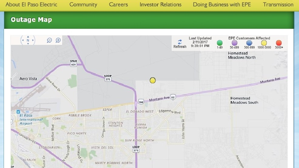 Power outage affects more than 3,000 people in far east El ... on map of bethany beach communities, map of calgary communities, map of myrtle beach communities, map of oregon coast communities, map of temecula communities, map of north dallas communities, map of scottsdale communities,